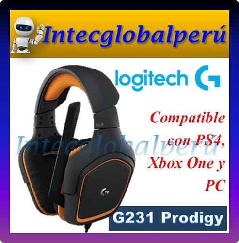 audífono logitech g231 prodigy gamer ps4 pc xbox one