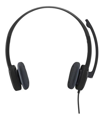 audífono logitech h151 micrófono stereo - negro
