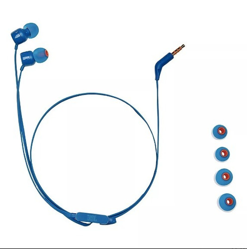 audifono manos libres jbl in ear t110 azul - phone store