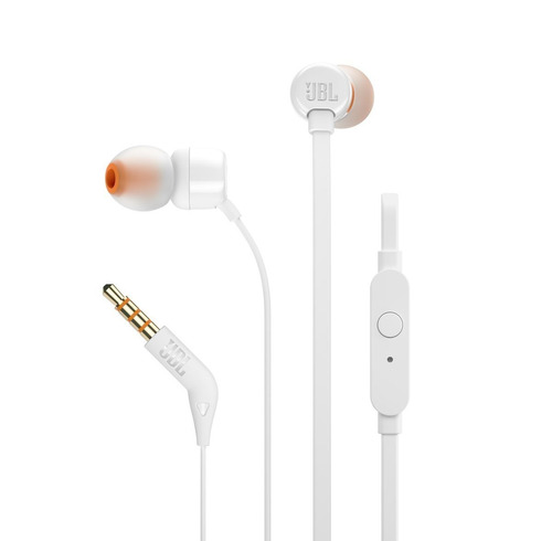 audifono manos libres jbl in ear t110 blanco - phone store