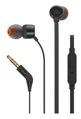 audifono manos libres jbl in ear t110 negro - phone store