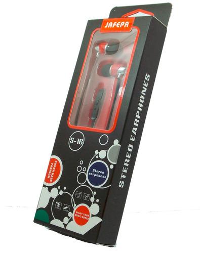 audifono manos libres silicon rojo/negro control de volumen