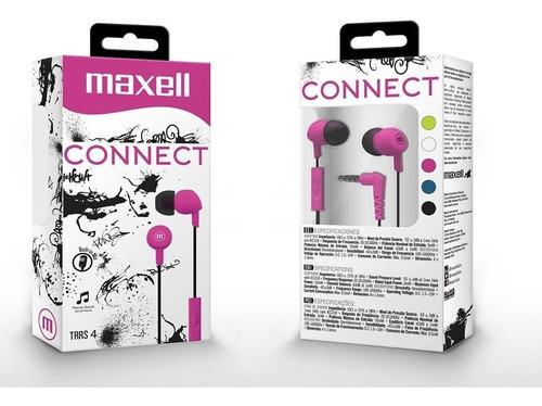 audifono maxell con microfono connect in-345 fucsia nuevo