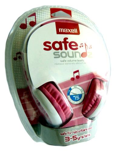 audifono maxell stereo sonido niñas3-5 años rosado19-01-1021