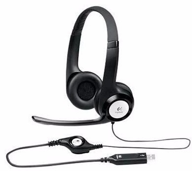 audífono + micrófono, logitech clearchat comfort, h390