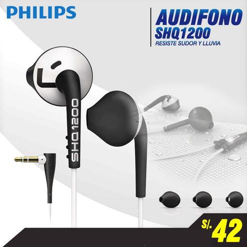 audifono philips shq1200 deportivos, modelo 2015