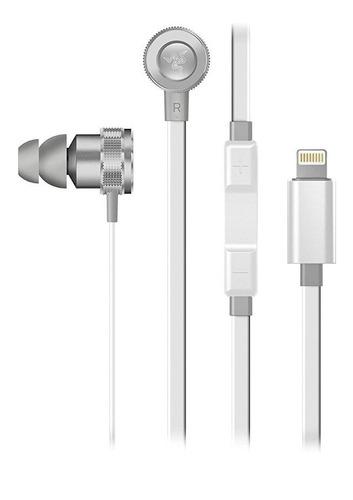 audífono razer hammerhead for ios lighting mercury white