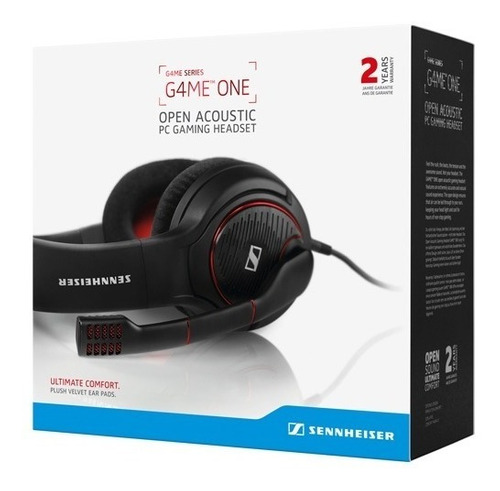 audifono sennheiser game one headset player white and black