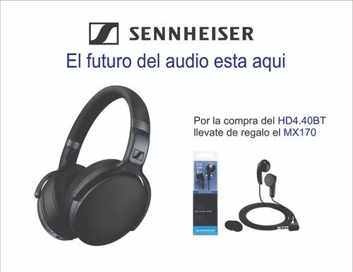 audifono sennheiser hd 4.40bt bluetooth + mx170 regalo¡