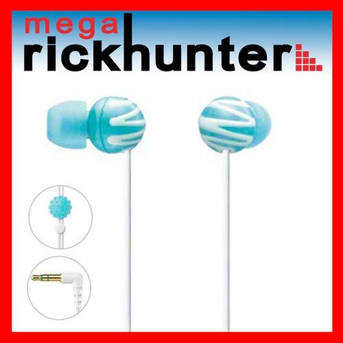 audifono sony lady colors mdr-ex25lp anti enredos azul