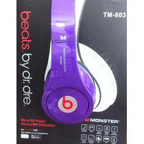 Audifonos Inalambricos Stereo Beats Mp3 Micro Sd Fm