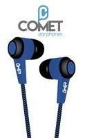 audifonos alambricos ghia comet color azul 3.5mm 1.2 metros