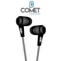 audifonos alambricos ghia comet color negro 3.5mm 1.2 metros