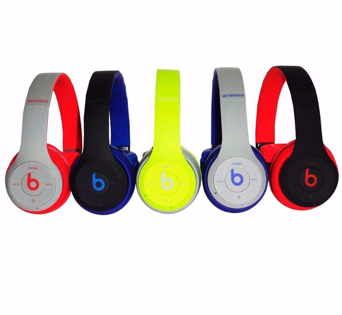 audifonos beats inalambrico bluetooth radio mp3 tm-019