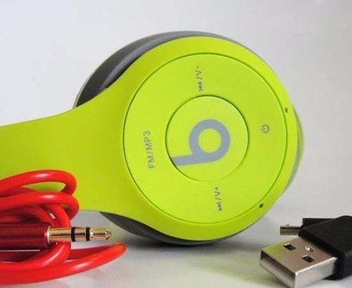 audífonos beats inalambricos micro sd mp3 bluetooth fm mdj