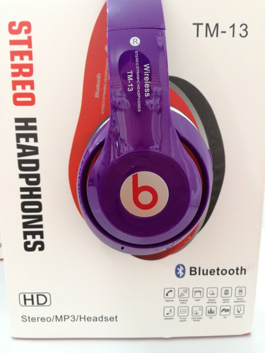 audifonos beats inalambricos mp3 bluetooth micro sd radio fm