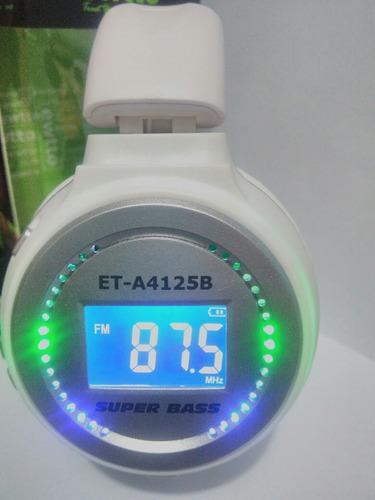 audifonos bluetooh con pantalla radio fm envio a provincia