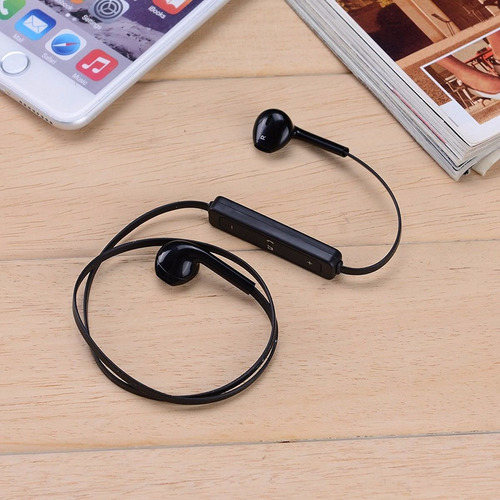 audifonos bluetooth 4.1  earphone s6 manos libres negro