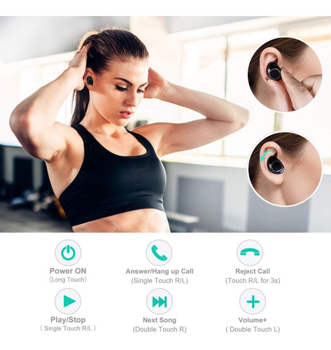 audifonos bluetooth 5.0 wireless resistentes al agua ipx5