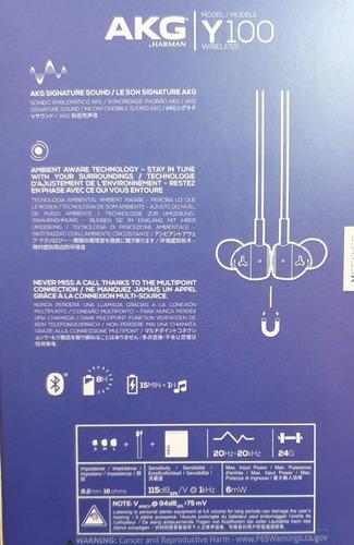 audifonos bluetooth akg y-100 samsung harman