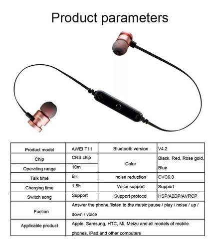audífonos bluetooth awei t11 magnéticos