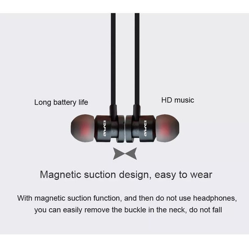 audífonos bluetooth awei t11 magnéticos originales sport