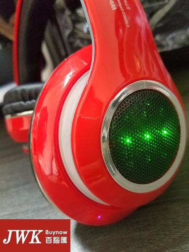 audífonos bluetooth con led micro sd fm telephone jwk vision