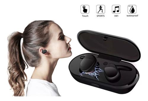 audífonos bluetooth contra agua touch airpods c/ estuche