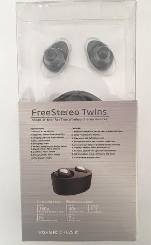 audífonos bluetooth inalambricos cargador 4.1 earbud airpods