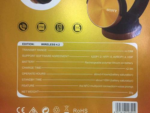 audifonos bluetooth marca sony  mod 450bt inalambricos