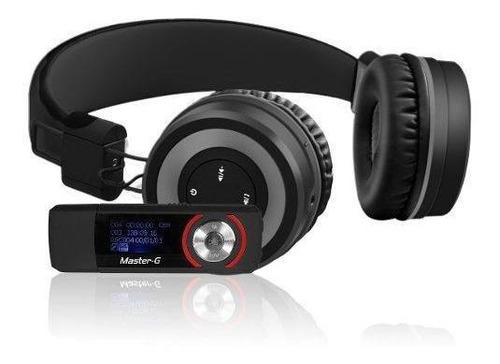 audífonos bluetooth mgbt7b master g + reproductor mp3 8 gb