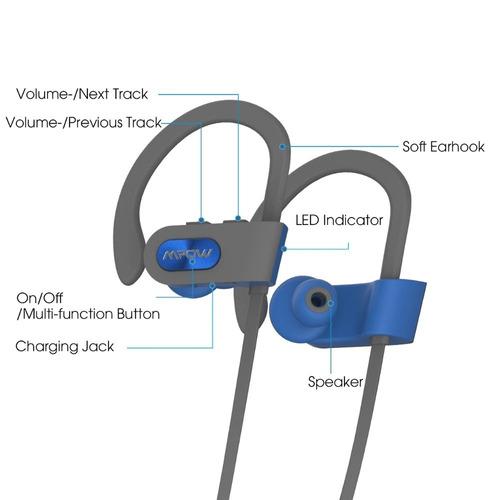 audifonos bluetooth mpow flame waterproof ipx7 deporte fit