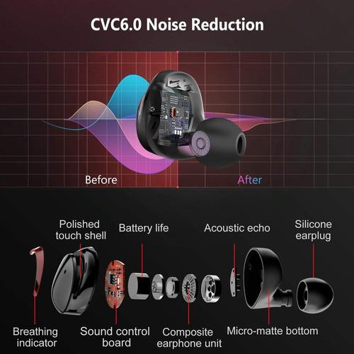 audifonos bluetooth resistentes al agua manos libre luz roja