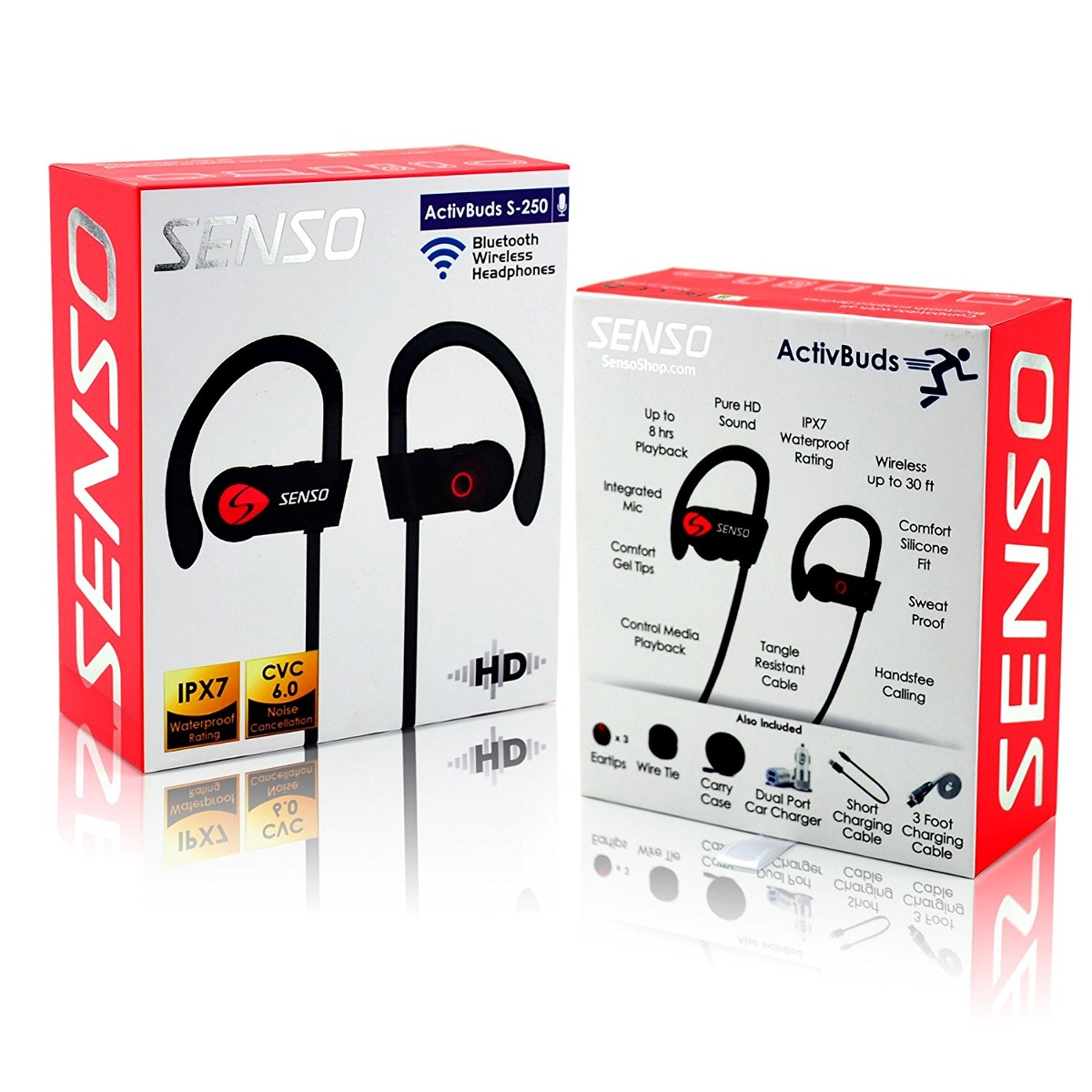 a8336f98cfa audifonos bluetooth senso con mic resist agua anti ruido. Cargando zoom.