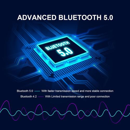 audifonos bluetooth sonido hd manos libre base de carga azul
