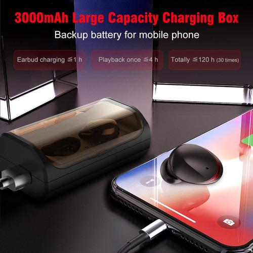 audífonos bluetooth tws manos libres base de carga luz rojo