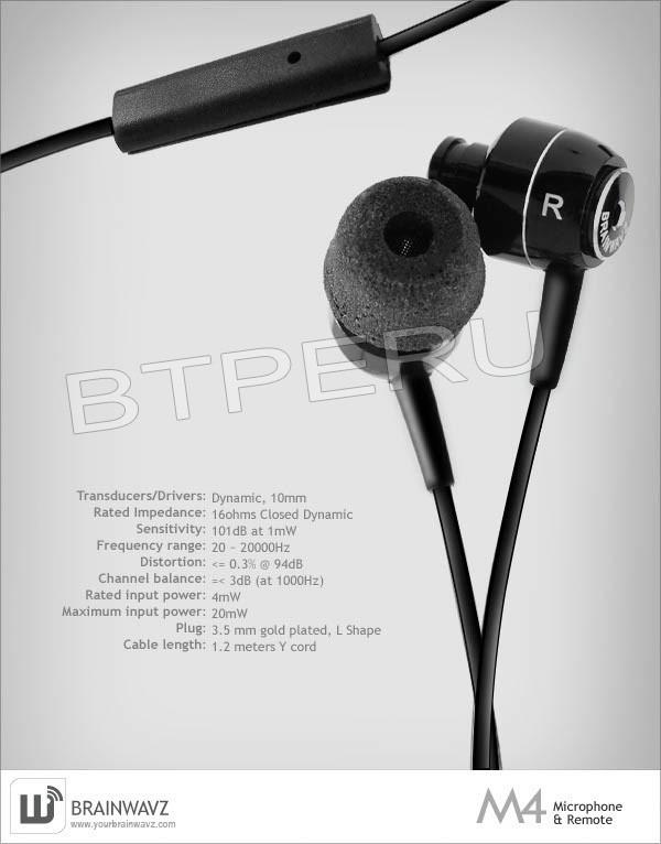 a57a0e39af2 Audifonos Brainwavz M4 iPhone 6 7 8 Plus iPod iPad Air Pro - S/ 190 ...