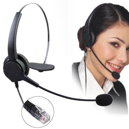 audifonos con microfono call center, oficina, conector rj11