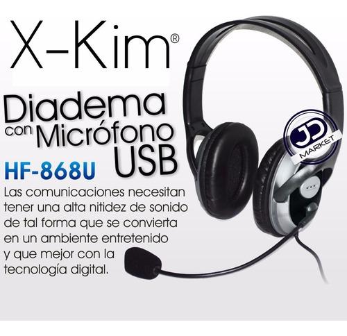 audífonos con micrófono usb hf-868 x-kim