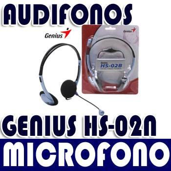 audifonos con microfono y control de volumen genius hs-02b
