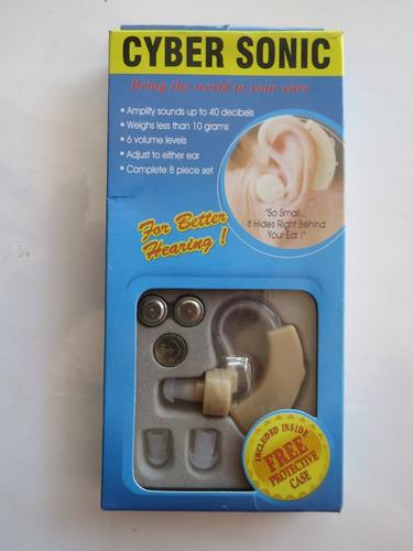 audifonos cyber sonic ,amplificador sonido +regalo 10 pilas