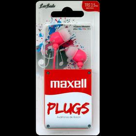 Audífonos De Botón Maxell Plugz Rosado Nuevo