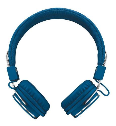 audifonos diadema alambrico trust ziva azul