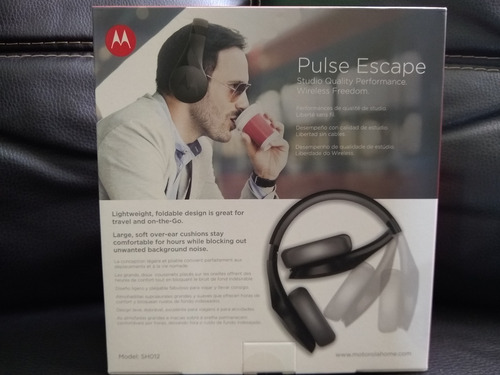 audifonos diadema bluetooth pulse escape negro (motorola)