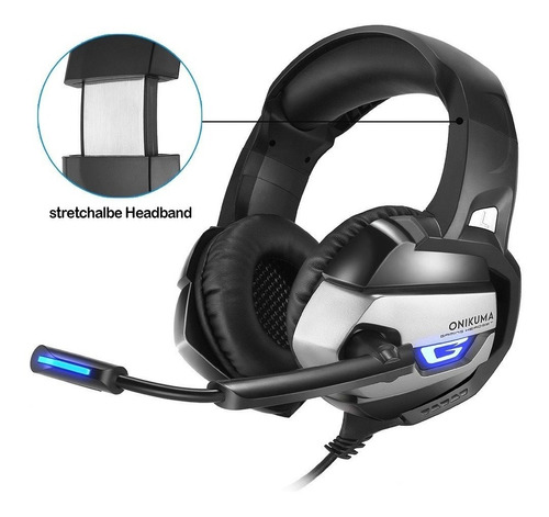 audifonos diadema gamer jakc 3.5mm pc laptop ps4 xbox one s
