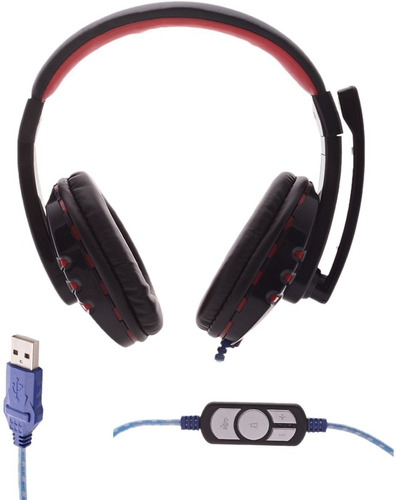 audifonos diadema gamer usb audio 5.1 pc laptop ps4 ps3 jueg