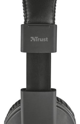 audifonos diadema trust reno 3.5 mm negro con microfono