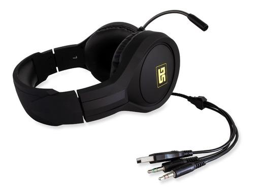 audifonos diademas gamer pc rgb usb microfono vorago hs-501