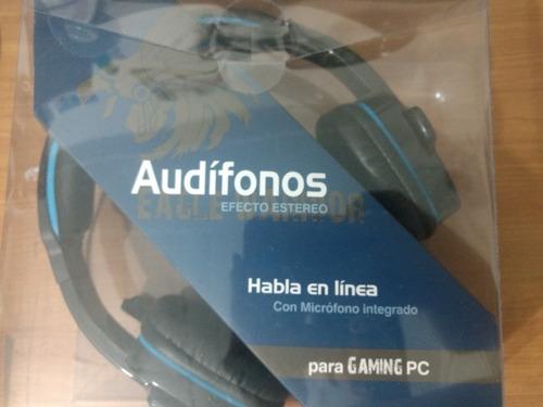 audifonos eagle warrior hs-501 color azul