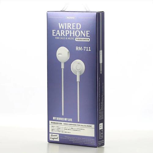 audífonos earpods remax rm-711, manos libres control volumen